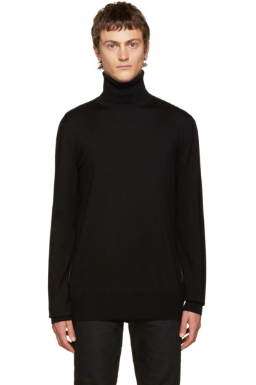 Balmain - Black Side Zip Turtleneck