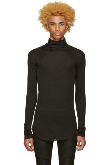 Balmain - Grey Ribbed Turtleneck