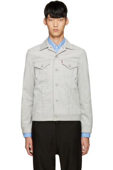 Junya Watanabe - Grey Coated Jersey Levi's Edition Jacket