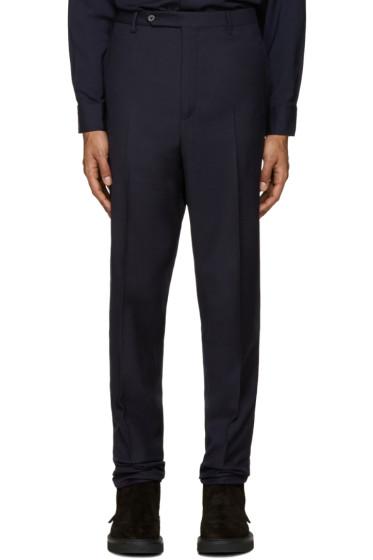 Lanvin - Navy Wool Drop Trousers