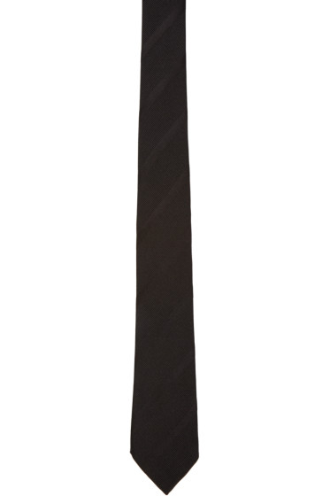 Paul Smith - Black Striped Silk Tie