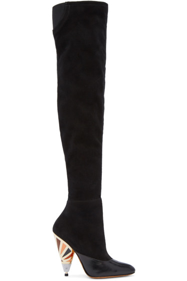 Givenchy - Black Prism Over-The-Knee Boots