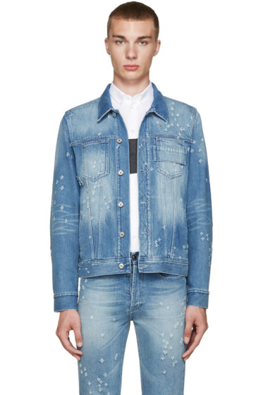 Givenchy - Blue Distressed Denim Jacket