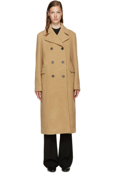 3.1 Phillip Lim - Camel Wool Long Car Coat