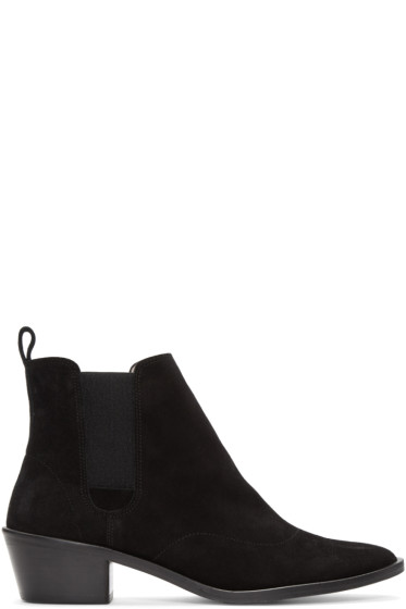 Repetto - Black Suede Auguste Boots