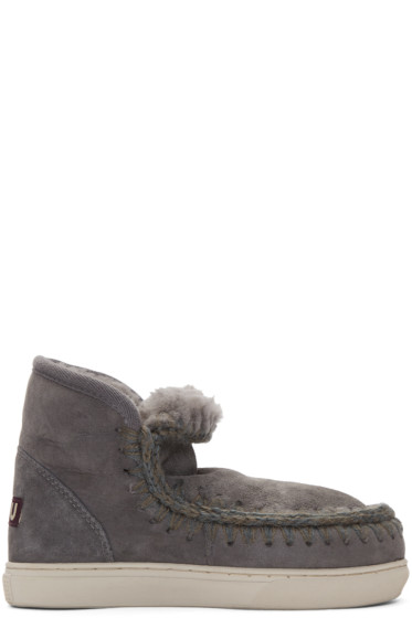 Mou - Grey Mini Eskimo Boots
