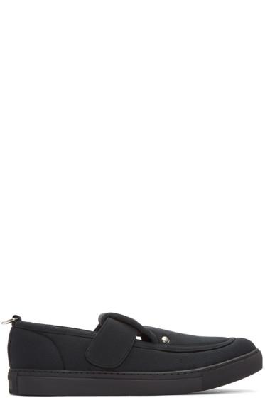 Comme des Garçons Homme Plus - Black Textile Strap Loafers