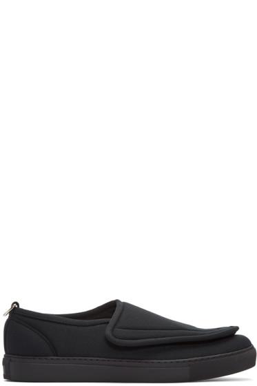 Comme des Garçons Homme Plus - Black Crossover Strap Loafers