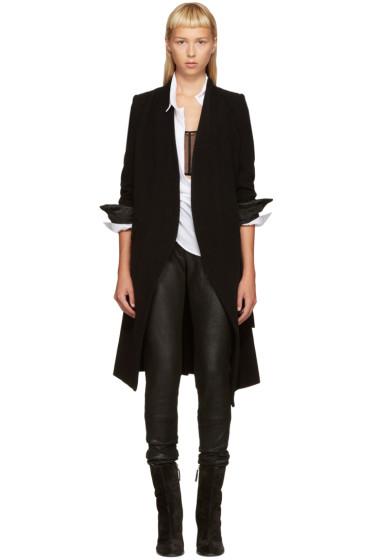 Ann Demeulemeester - Black Sheridan Coat