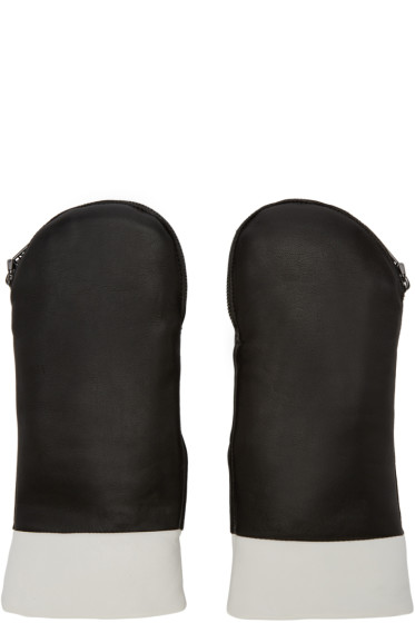 Kenzo - Black Fur-Lined Mittens