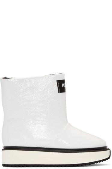 Kenzo - White Shearling Moon Boots