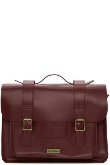 Dr. Martens -  Red Leather Messenger Bag