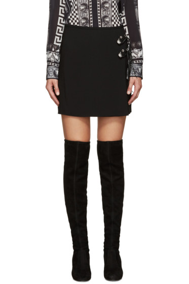 Versus - Black Safety Pin Miniskirt