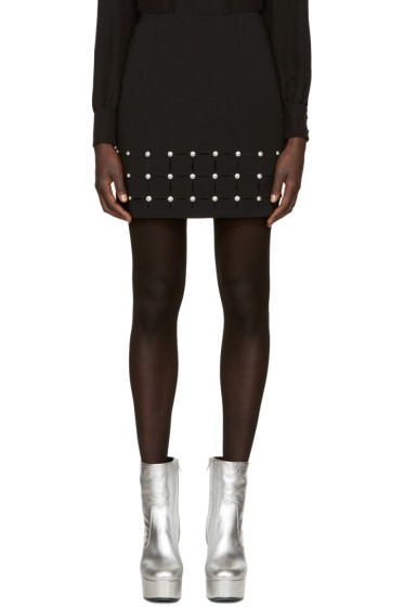 Versus - Black Cut-Out Miniskirt