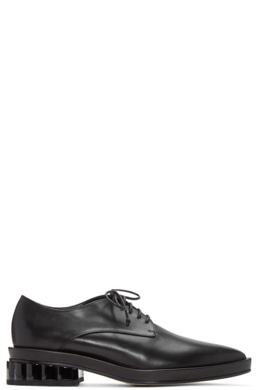 Simone Rocha - Black Scalloped Heel Derbys
