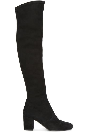 Saint Laurent - Black Suede Babies Boots