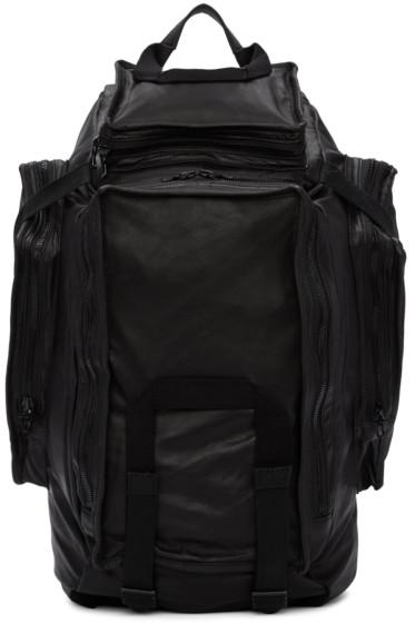 Julius - Black Multi-Zip Backpack