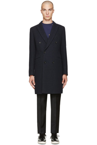 PS by Paul Smith - Navy Double-Breasted Coat