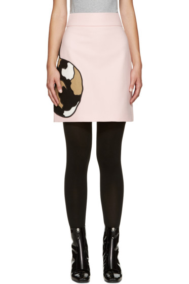 MSGM - Pink Wool Cat Miniskirt