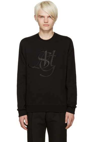 MSGM - Black Monogram Sweatshirt
