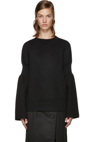 Sacai - Black Zippered Pullover