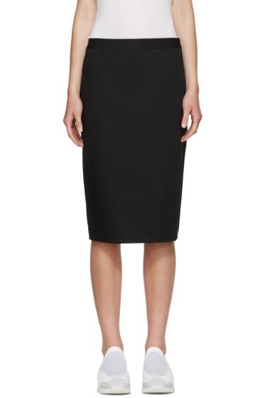 6397 - Black Cotton Twill Skirt