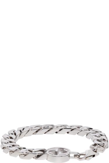 Gucci - Silver GG Logo Bracelet