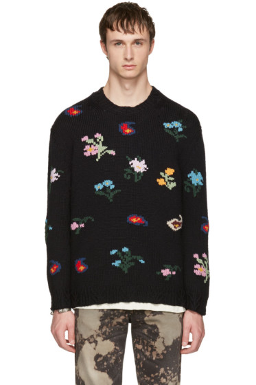 Gucci - Black Embroidered Sweater