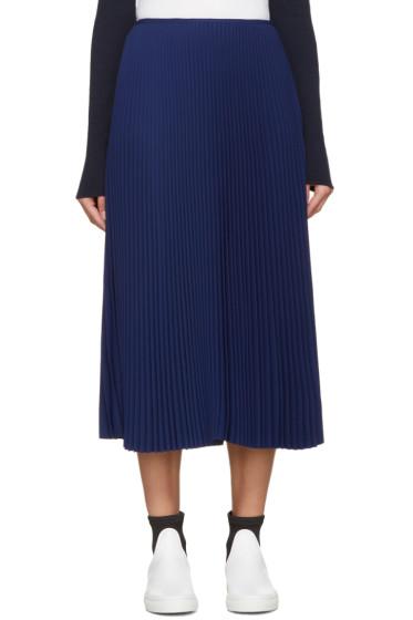Cédric Charlier - Blue Pleated Skirt
