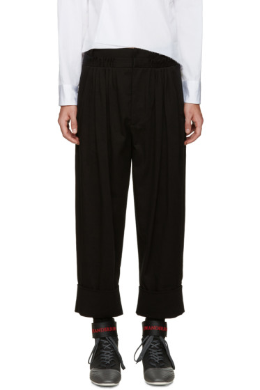 J.W. Anderson - Black Twill Baggy Trousers