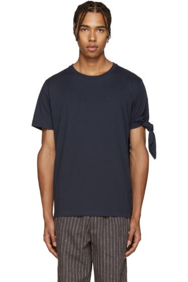 J.W. Anderson - Navy Single Knot T-Shirt