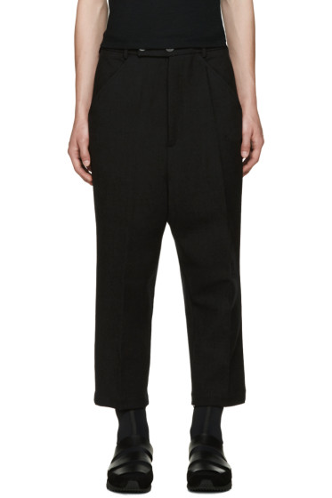 Thamanyah - Black Wool Trousers