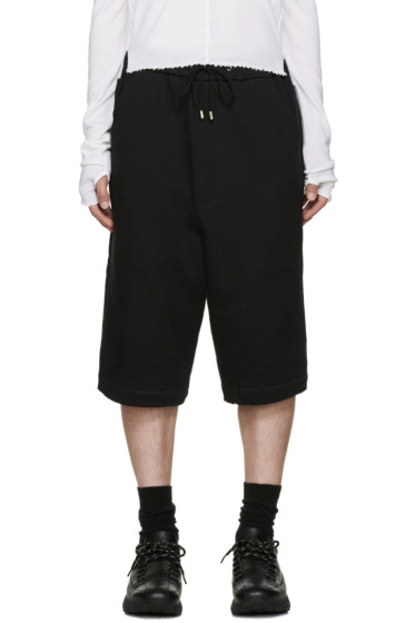 Thamanyah - Black Cotton Lounge Shorts