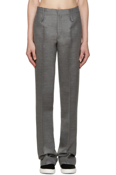 Calvin Klein Collection - Grey Pintuck Trousers