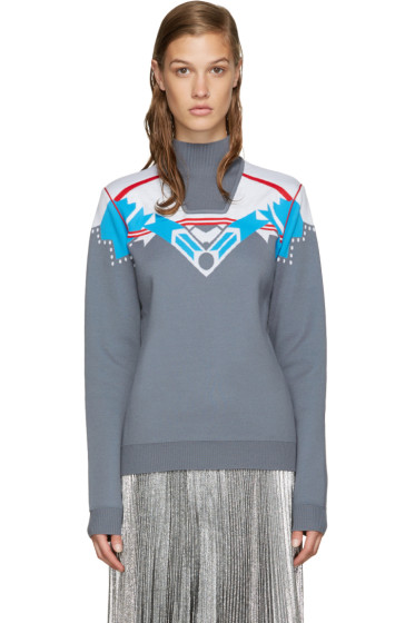 Peter Pilotto - Grey Ski Knit Sweater