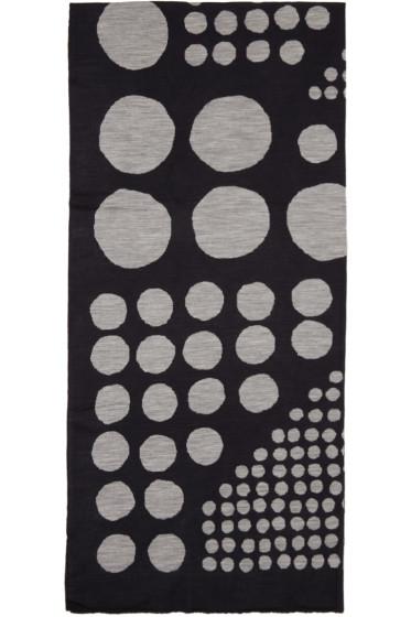 Kolor - Navy & Grey Jacquard Graphic Scarf