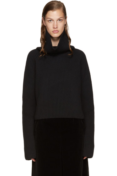 Haider Ackermann - Black Cropped Turtleneck