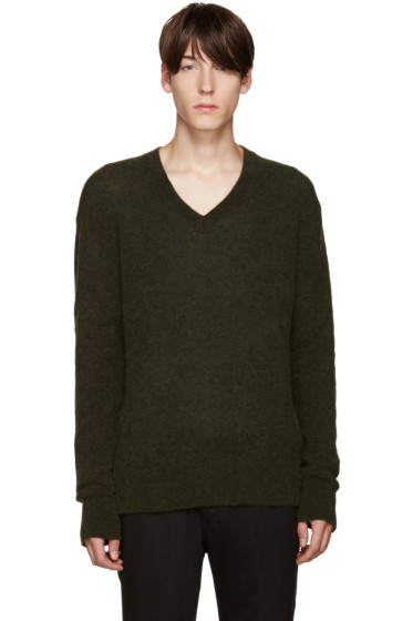 Haider Ackermann - グリーン モヘア セーター