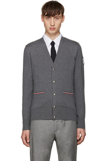 Moncler Gamme Bleu - Grey Double Pocket Cardigan