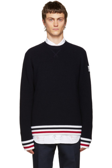 Moncler Gamme Bleu - Navy Striped Sweater