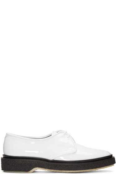 Adieu - White Type 1C Oxfords