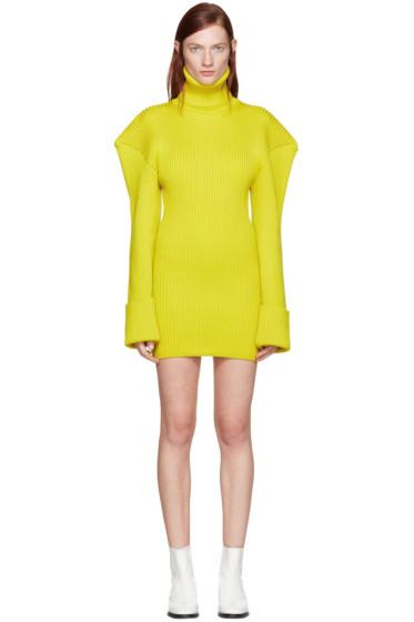 Jacquemus - Yellow Giant Shoulder Dress