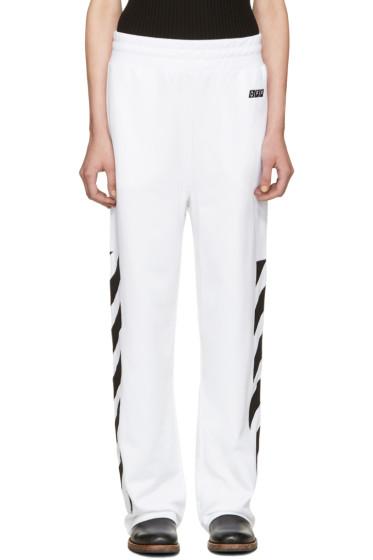 Off-White - White Sporty Logo Lounge Pants