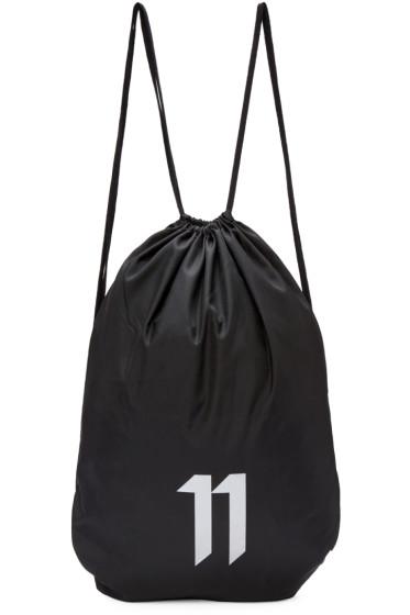 11 by Boris Bidjan Saberi - SSENSE Exclusive Black Drawstring Bag
