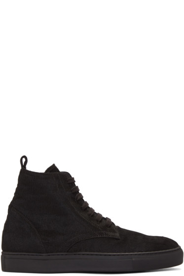 AD Ann Demeulemeester - Black Odyssey High-Top Sneakers