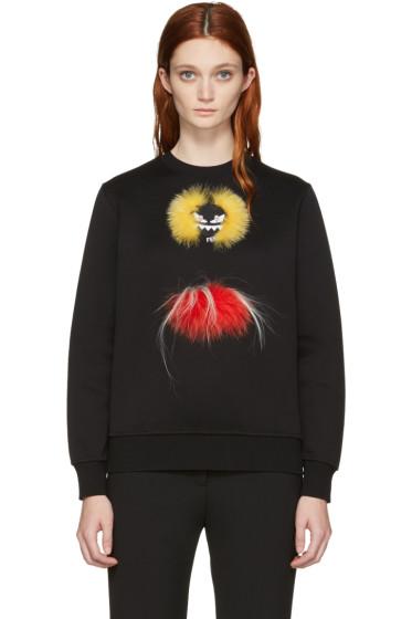Fendi - Black Double 'Fendi Wonders' Pullover