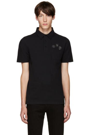 Fendi - Black Appliqué Polo