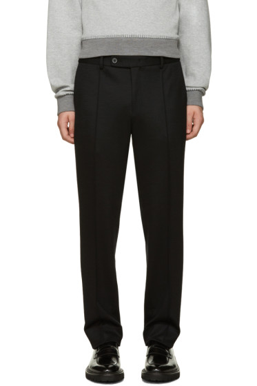 Wooyoungmi - Navy Wool Jersey Trousers