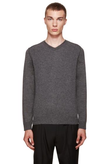 Wooyoungmi - グレー V ネック セーター