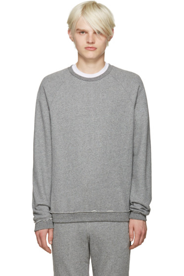 John Elliott - Grey Raw Edges Pullover